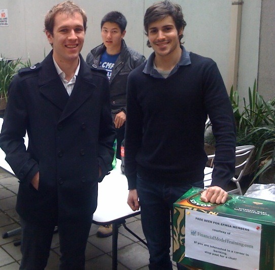 Paul Mason and Ben Litwin at the RMIT EFMSA bbq